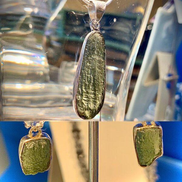 Moldivitependantand earrings